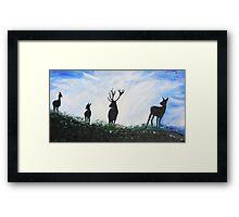 Stag Family Framed Print