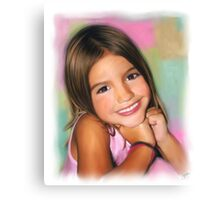 Haileys Beautiful Smile Canvas Print