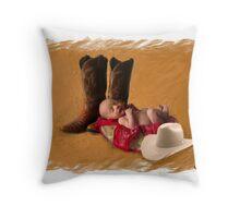 Cowboy Up! Throw Pillow