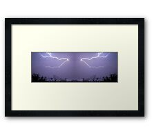 March 19 & 20 2012 Lightning Art 26 Framed Print