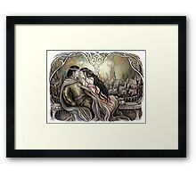 King and his queen Framed Print