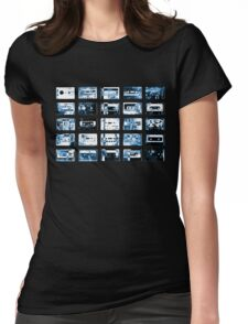 Damaged tapes Womens Fitted T-Shirt