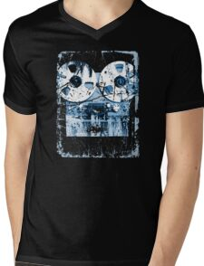 Damaged tape recorder Mens V-Neck T-Shirt
