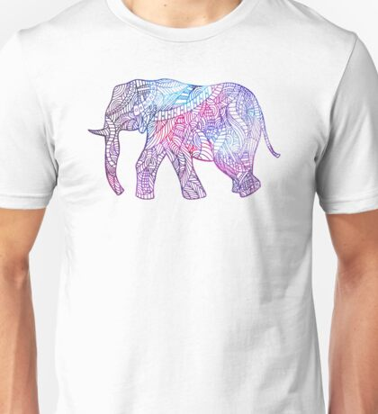 Elephant of lines Unisex T-Shirt