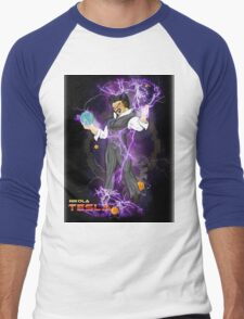 DBZ Tesla Men's Baseball ¾ T-Shirt