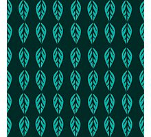 Turquoise Leaves in Dark Photographic Print
