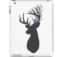 Stag silhouette with Leafy antlers iPad Case/Skin