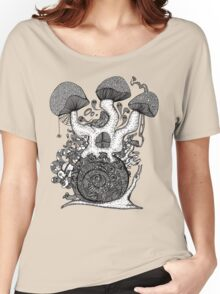 The Snail House Gray Women's Relaxed Fit T-Shirt