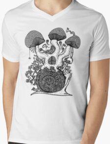 The Snail House Gray Mens V-Neck T-Shirt