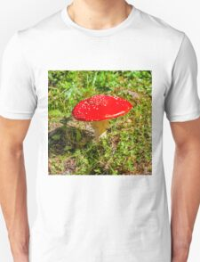 Classic red and white potted toadstool. Fly agaric or Fly amanita (Amanita muscaria) Unisex T-Shirt