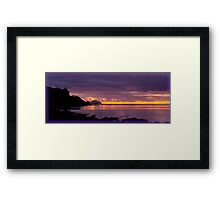 """Culzean Bay Purple Sunset"" Framed Print"