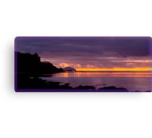 """Culzean Bay Purple Sunset"" Canvas Print"