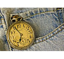 Old Pocket Watch Photographic Print