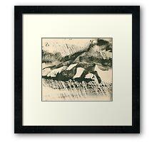 Rainy Landscape  Framed Print