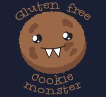 Gluten Free Cookie Monster with cute kawaii biscuit Kids Tee