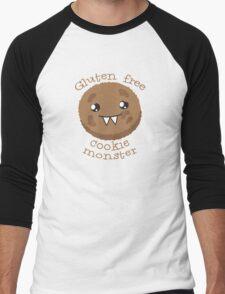 Gluten Free Cookie Monster with cute kawaii biscuit Men's Baseball ¾ T-Shirt