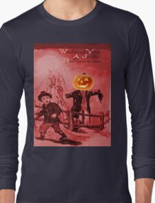 The Scarecrow (Vintage Halloween Card) Long Sleeve T-Shirt