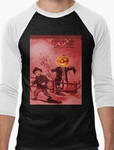 The Scarecrow (Vintage Halloween Card) Men's Baseball ¾ T-Shirt