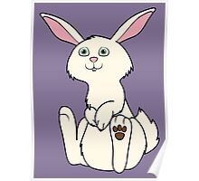 Sitting Cream Rabbit Poster