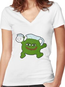 Kool Aid - Pepe Women's Fitted V-Neck T-Shirt