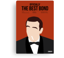 Officially the best bond - Connery! Canvas Print