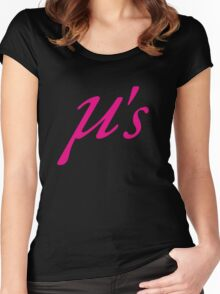 Love Live Idol Muse μ's Women's Fitted Scoop T-Shirt
