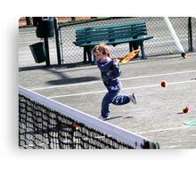 Tennis Lesson Canvas Print