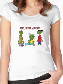 Pe, Pep n Pepe Women's Fitted Scoop T-Shirt