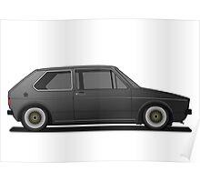 Volkswagen Golf Mk1 - Black Poster