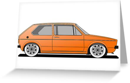 Volkswagen Golf Mk1 - Orange by Volkswagen Guy