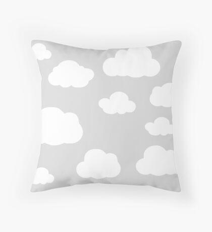 Little Grey Clouds Throw Pillow