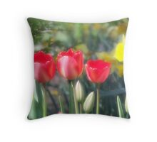 Tulips and Daffodils Throw Pillow