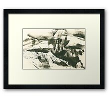 autumn landscape with snow Framed Print