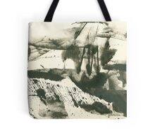 autumn landscape with snow Tote Bag