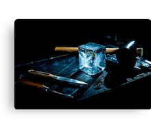 Handcrafted Ice Cube Canvas Print