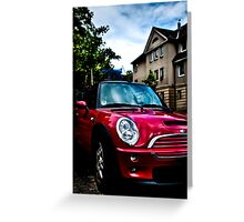 Red Mini Greeting Card