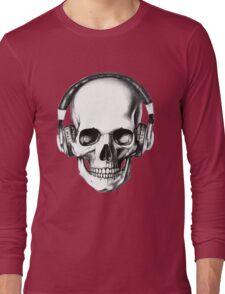 SKULL HEADPHONES Long Sleeve T-Shirt