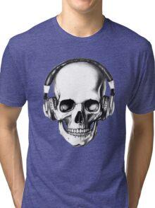SKULL HEADPHONES Tri-blend T-Shirt