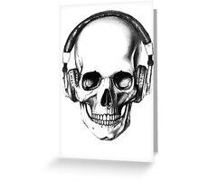 SKULL HEADPHONES Greeting Card