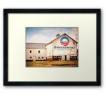 Barack Obama Presidential Campaign Barn Framed Print
