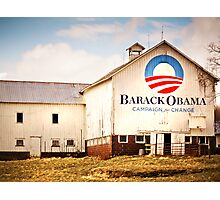 Barack Obama Presidential Campaign Barn Photographic Print