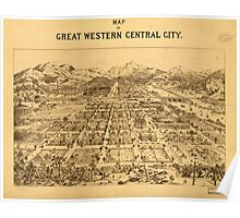 Panoramic Maps Map of great western Central City Poster