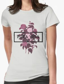 Pura Vida Flowers Womens Fitted T-Shirt