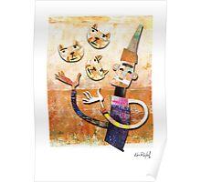 Cat Juggler Poster