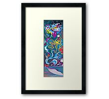 Every Time a Whale Blows Their Spout, a New Dream is Born. Framed Print