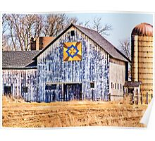 Patchwork Quilt Barn  Poster