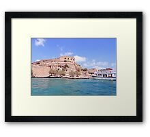 Island of Spinalonga, Greece a fortress and leper colony  Framed Print