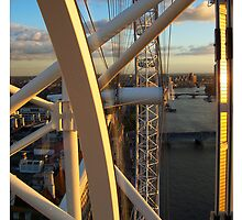 View from London Eye (Millenium Wheel). London. UK by Anatoly Lerner