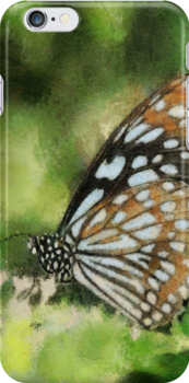 Blue Tiger iPhone Case by Lois  Bryan