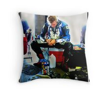 Motorcyclist. When nothing is going right. Throw Pillow